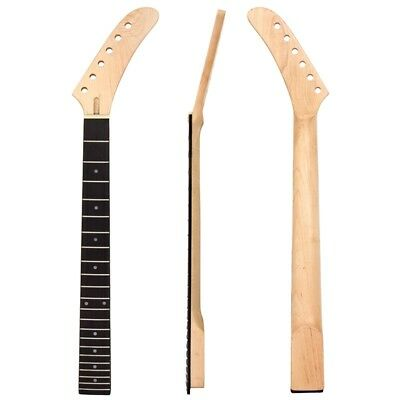22 Frets Maple/Rosewood Banana Guitar Neck Dot Inlay For ST Guitar Replacement