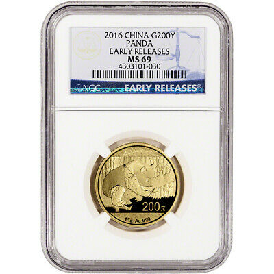 2016 China Gold Panda (15 g) 200 Yuan - NGC MS69 - Early Releases
