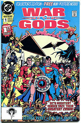 WAR of the GODS #1 2 3 4, VF/NM, Perez, Wonder Woman, Superman1991, 4 issues