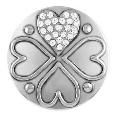BUY 4, GET 5TH $6.95 SNAP FREE GINGER SNAPS™ Jewelry FILLED HEART  SN01-16