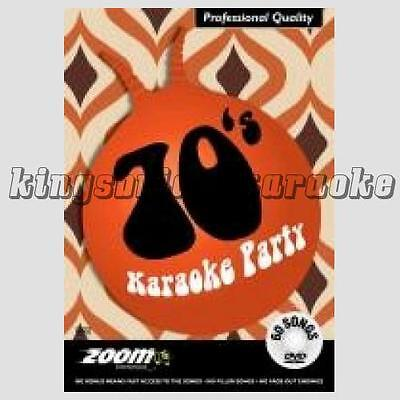 Zoom Karaoke DVD - 70s Karaoke Party, 60 Classic Seventies Tracks For DVD Player