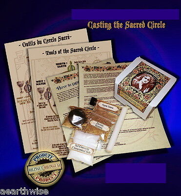 CASTING THE CIRCLE RITUAL KIT Wicca Witch Pagan Goth OPENING THE SACRED CIRCLE