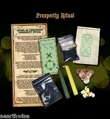 RITUAL OF PROSPERITY KIT Wicca Witch Pagan Goth PROSPERITY RITUAL KIT
