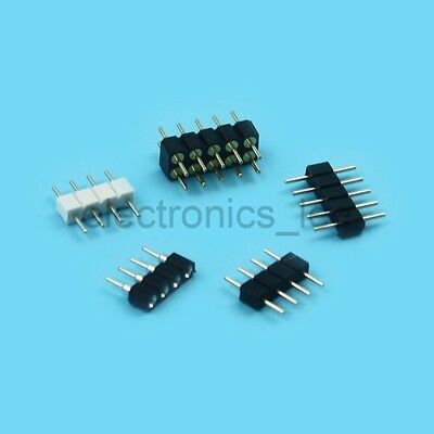 10pcs 4P 5P 10P Male Female Solderless Pin Header Connector for RGB LED Strip