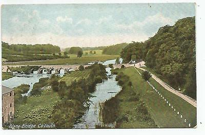 irish postcard ireland louth slane bridge