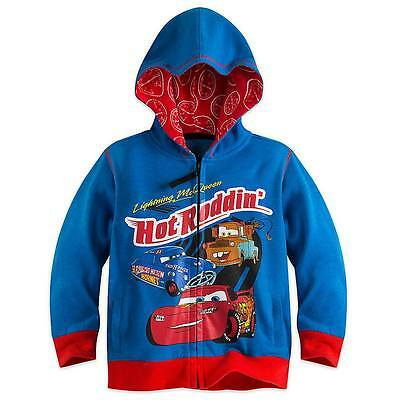 Disney Store Cars Lightning McQueen Tow Mater Hoodie Boys Coat Toddler Size 3