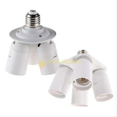 3/4 in1 E27 Base Light Lamp Bulb Splitter Adapter Holder Socket fr Photo Softbox