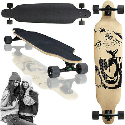 Longboard 105x24 Long Board Skateboard Surfboard komplett medium Flex Longboards