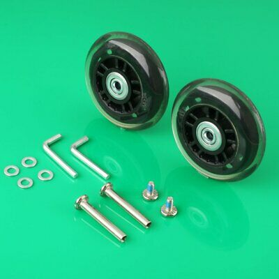 2 Set Luggage Suitcase Replacement Wheels Axles Deluxe Repair OD 76mm Axles 35