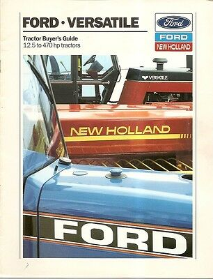 Farm Tractor Brochure - Ford - Versatile - Buyer Guide - c1988 (F1752)