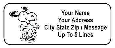 30 Happy Snoopy Personalized Address Labels