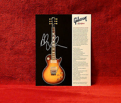 RUSH    Alex Lifeson Les Paul Axcess 1 Sided Gibson Promo