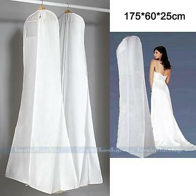 Wedding Evening Dress Bridal Gown Garment Dustproof Cover Storage Bag Protector