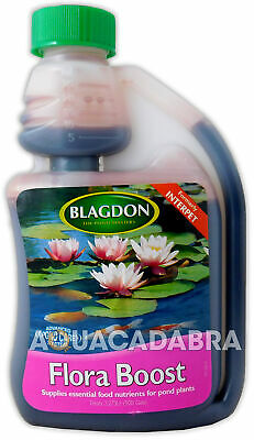 BLAGDON FLORA BOOST 250ml POND WATER PLANT GROWTH FLOWERING TREATMENT NUTRITION