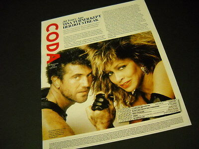 TINA TURNER 30 Years Ago... detailed 2015 look-back PROMO DISPLAY AD mint cond