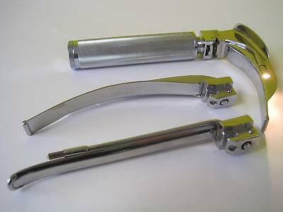 Autoclave Intubation Kit Laryngoscope Blade Rusch Mac 3 4 Mil 2 Lighted #1