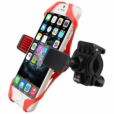 New 360 Rotating Clip Motorcycle Bicycle Handlebar Mount Holder For Cell Phone