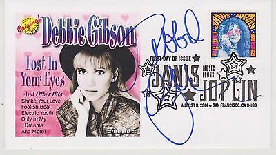 Signed Debbie Gibson Fdc Autographed First Day Cover Lost In Your Eyes