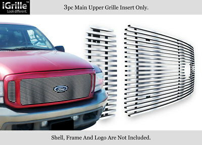Fits 99-04 Ford F250/F350/Super Duty/Excursion Stainless Steel Billet Grille