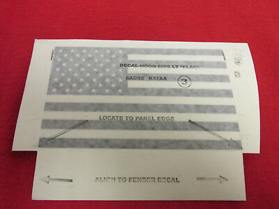 Jeep Wrangler Freedom Package American Flag Decal NEW OEM MOPAR