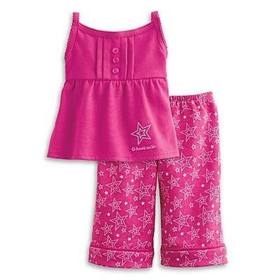 New American Girl Pajama Set PJ Doll Clothing Pink Sweet Dreams Authentic