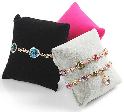Velvet Linen Pillow Jewelry Stand Bracelet Watches Display Photography Prop