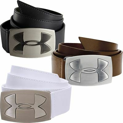 Under Armour 2016 Fairway Logo Leather Mens Golf Belt