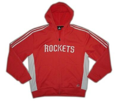 adidas NBA Houston Rockets Basketball Fleece Hoody Jacke rot