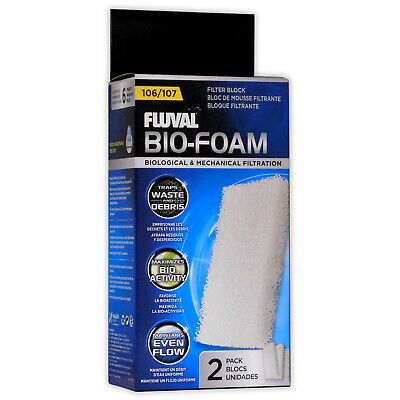 Fluval External Filter Foam Pad 104/105/106 Media Aquarium Fish Tank