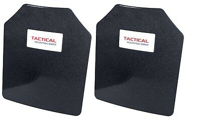 AR500 Steel Body Armor Level III Two 10 x 12 Plates - Frag Coating