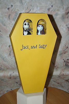 Nightmare Before Christmas Jack & Sally Action Figure Coffin 2-Pack Disney New
