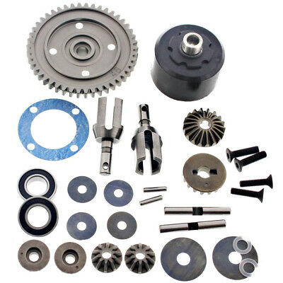 Mugen 1/8 MBX7TR Truggy * CENTER DIFFERENTIAL & 46T SPUR GEAR * Diff Cups Bevel