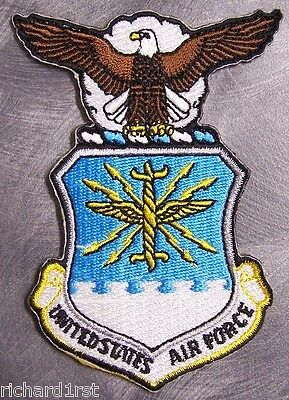 Embroidered Military Patch USAF Air Force Seal NEW