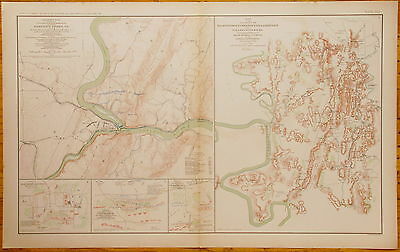Authentic Civil War Map ~ Harper'S Ferry, Virginia - 1863