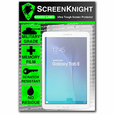 "ScreenKnight Samsung Galaxy Tab E 9.6"" SCREEN PROTECTOR invisible Military Grade"