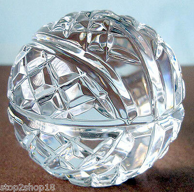 Waterford Tennis Ball Paperweight Crystal Sculpture #40005445 New In Box
