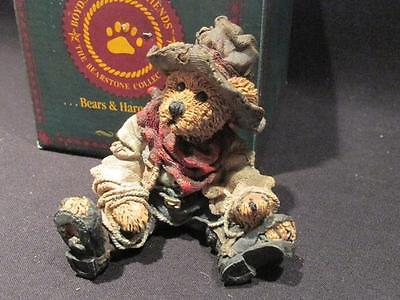 Hop-A-Long the Deputy  #2247 Boyds Bears Bearstone 1994 Figure Box 3E/3490