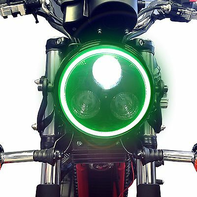 Motorbike Motorcycle LED Headlight & Green Halo Ring for Yamaha XJR1200 XJR1300