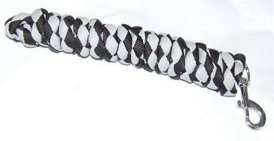 Ecotak 3m black & grey lead rope/rein with replaceable clip Ecotak