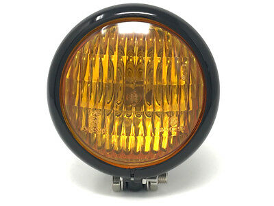 Retro Motorbike Headlight & Yellow Lens for BMW Boxer Cafe Racer Classic Project