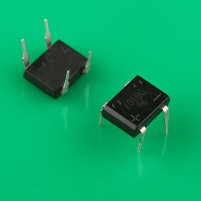10PCS DIP- 4 DB107 1A 1000V Single Phases Diode Rectifier Bridge NEW