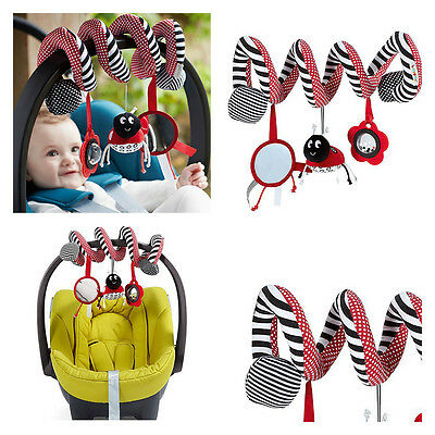 Hotsale Baby Kid Spiral/Twisty/Curly Pram Bar/Car Seat/Cot Activity Dangle Toy
