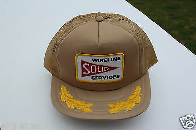 Ball Cap Hat - Solid Wireline Services Alberta Oil Gas Well Logging (H1435)