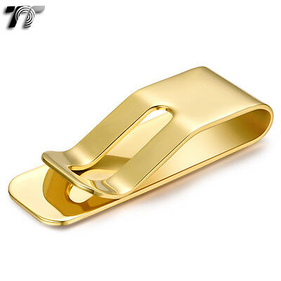 High Quality TT 316L Gold GP Stainless Steel Money Clip (MC47J) NEW Arrival