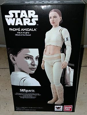 Bandai Star Wars Attack of the Clones S.H.Figuarts Padme Amidala Action Figure