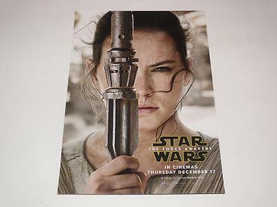 Star Wars: The Force Awakens ~ Lobby Card ~ Rey ~ Official Promo ~ New