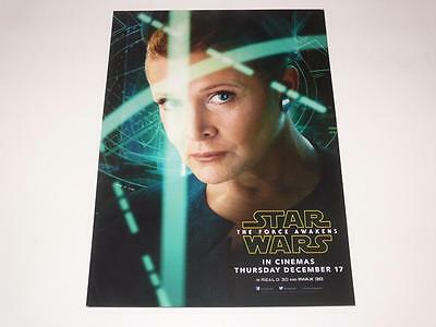 Star Wars: The Force Awakens ~ Lobby Card ~ Leia ~ Official Promo ~ New