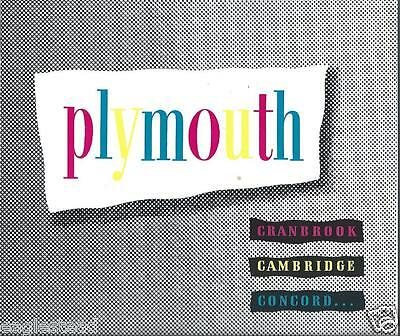 Auto Brochure - Plymouth - Cranbrook Cambridge Concord - c1951-53  (AB843)