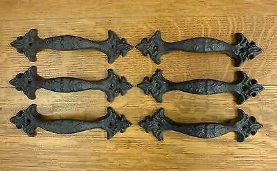 "6 Brown Antique-Style 6.5"" Cast Iron Decorative Drawer Door Cabinet Pull Handle"