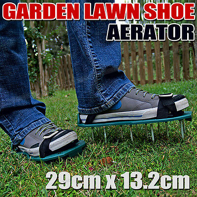 Lawn Care Garden Grass Sod Aerator Spike Sandals Spiked Strap Shoes Garden Tools